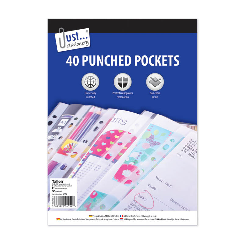 40 Punched Pockets