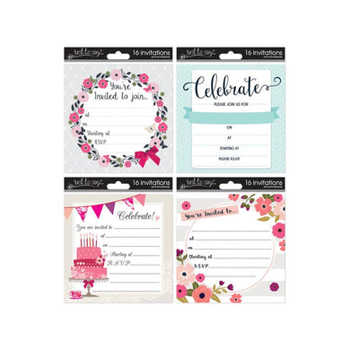 16 Invitation Cards