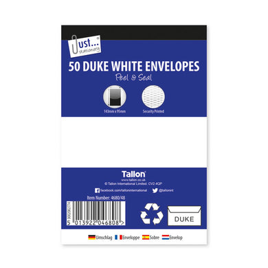 50 Duke White Envelopes