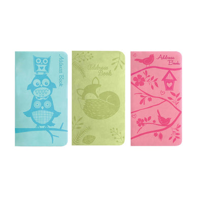 Slim Address Book Embossed Naturals