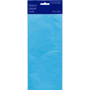 5 Sheets of Pale Blue Tissue Paper