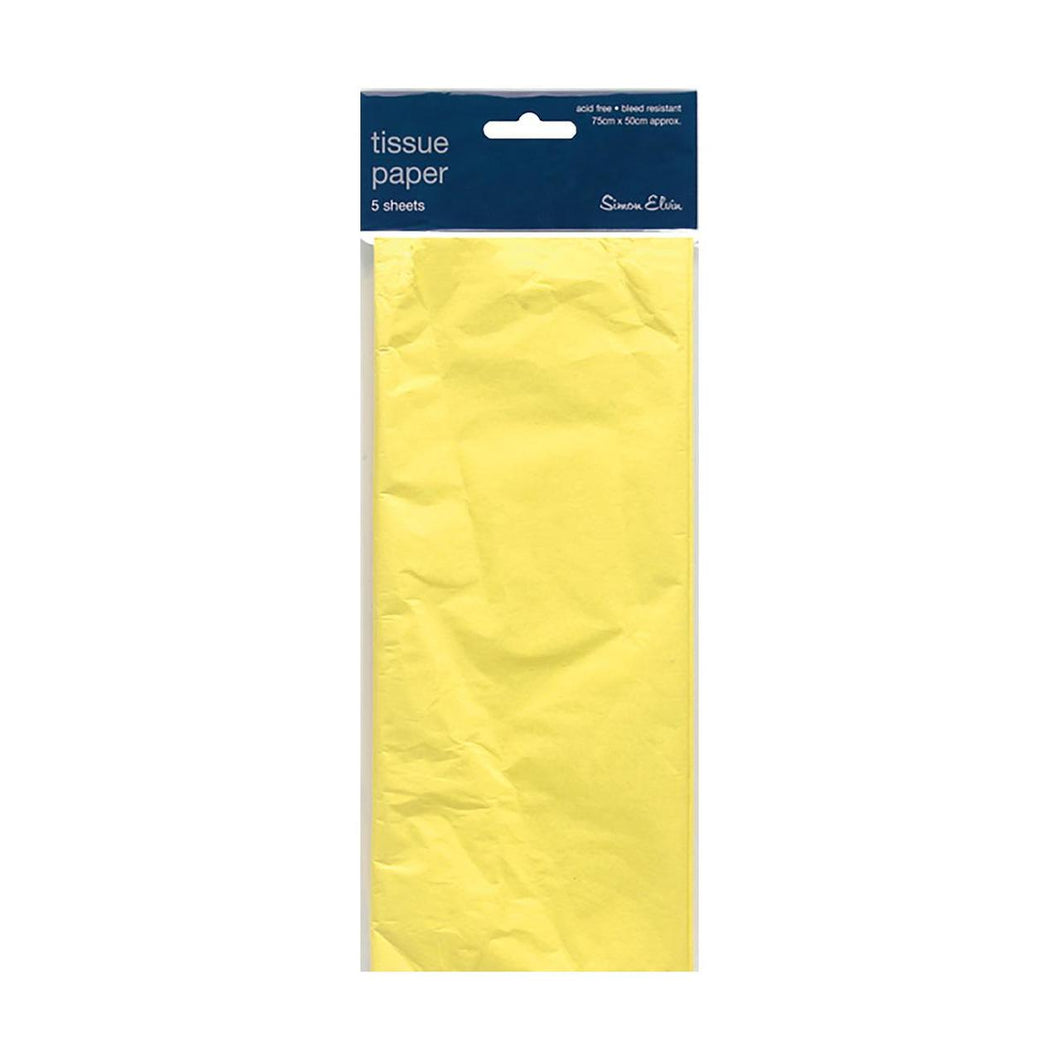 5 Sheets of Yellow Tissue Paper