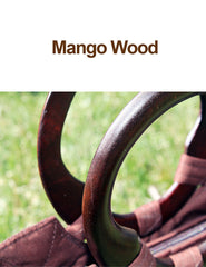 Wide Mouth Smoked Bamboo Handbag - Bee Glorious