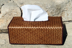 Smoked Bamboo Tissue Box - Bee Glorious