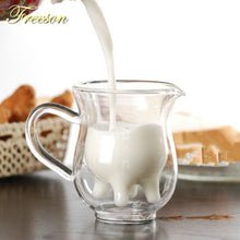 Load image into Gallery viewer, Creative Cow Double Layer Glass Creamer Cup
