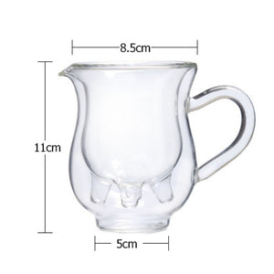 Creative Cow Double Layer Glass Creamer Cup