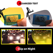 Load image into Gallery viewer, VIVIBEE UV 400 Polarized 1 Pair Clip on Sunglasses for Driving Night Vision Yellow Sun Glasses with Clips Unisex Clips FREE SHIPPING