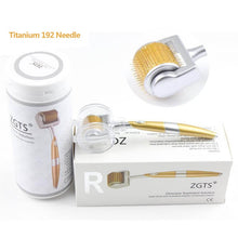 Load image into Gallery viewer, Professional Derma Roller Titanium ZGTS Derma Roller Choose 3 Sizes of 192 Needles for Face Care and Hair-Loss Treatment CE Certificate Proved FREE SHIPPING