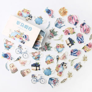 Retro Time Series Cute 40 Stickers 2 of Each Pattern Custom Stickers Diary Stationary Flakes Scrapbook DIY Decorative Stickers FREE SHIPPING