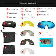 Load image into Gallery viewer, TR90 Cycling Sunglasses 5 LENS MTB Polarized Sports Cycling Glasses Goggles Bicycle Mountain Bike Glasses Men/Women Cycling Eyewear FREE SHIPPING