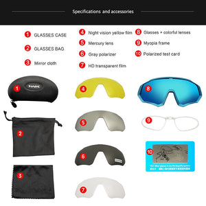 TR90 Cycling 1 or 5 Lens Package Choice Sunglasses MTB Polarized Sports Cycling Glasses Goggles Bicycle Mountain Bike Glasses Men/Women Cycling Eyewear FREE SHIPPING