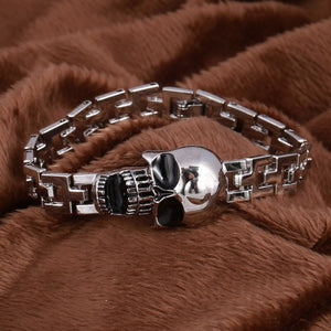 Stainless Steel Men's High Quality Open Mouth Skull Bracelet FREE SHIPPING