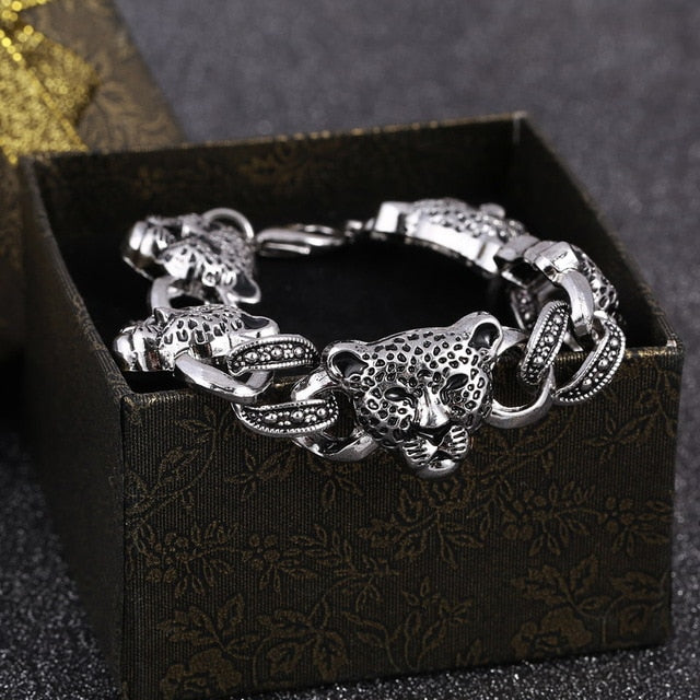 Stainless Steel Cool Men's High Quality Leopard Bracelet FREE SHIPPING