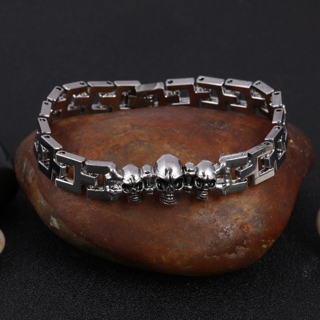 Stainless Steel Skulls Bracelet High Quality FREE SHIPPING