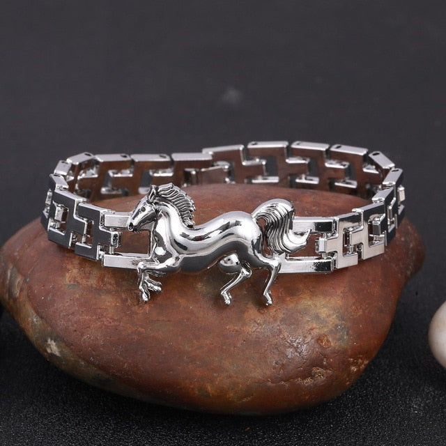 Stainless Steel Men's High Quality Horse Bracelet FREE SHIPPING