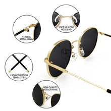 Load image into Gallery viewer, OUTMIX GOLD GREEN Oversized Round Polarized Sunglasses for Women or Men Fashion Big Sun Glasses Vintage Glasses For Driving UV400 FREE SHIPPING