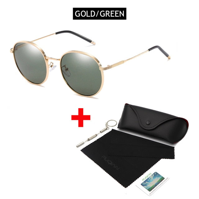 OUTMIX GOLD GREEN Oversized Round Polarized Sunglasses for Women or Men Fashion Big Sun Glasses Vintage Glasses For Driving UV400 FREE SHIPPING