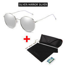 Load image into Gallery viewer, OUTMIX SILVER MIRROR SILVER Oversized Round Polarized Sunglasses for Women or Men Fashion Big Sun Glasses Vintage Glasses For Driving UV400 FREE SHIPPING