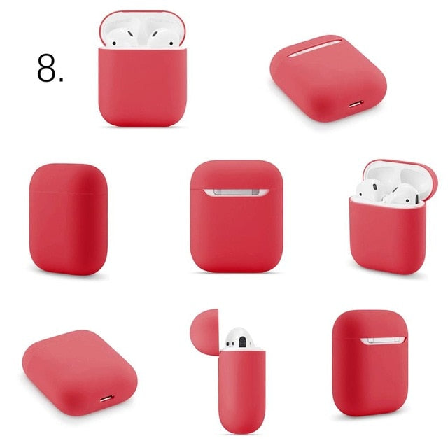 Slim Silicone Earphone Case For Apple Airpods Case Cover For AirPods Wireless Charging Box Ultra Thin For AirPods Protector Case FREE SHIPPING
