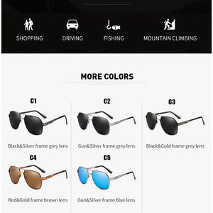 Polarized UV 400 Pilot Sunglasses for Sports Outdoor Driving Polaroid Sunglasses Assorted Colors Pilot Metal Frame Sun Glasses FREE SHIPPING