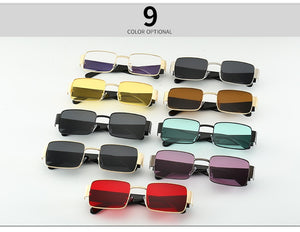 LVVKEE UV 400 Brand Design Women or Men Assorted Colors Steampunk Style Vintage Sunglasses Classic Retro Square Sun Glasses FREE SHIPPING
