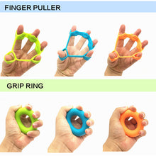 Load image into Gallery viewer, Hand Gripper Silicone Ring Hand Grip Resistance Band Finger Stretcher-Exercise Forearm Wrist Training Carpal Expander 2Pcs/set  FREE SHIPPING