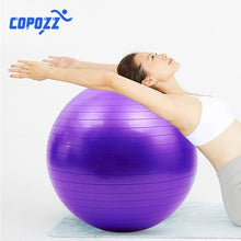 Load image into Gallery viewer, Sports Yoga Balls Pilates Fitness Gym Balance Fitball Exercise Training Workout Massage Ball 5 Colors 55cm 65cm 75cm Pump Available FREE SHIPPING