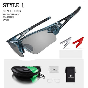 TEAL Polarized Photochromatic Cycling Glasses Bike Glasses Outdoor Sports MTB Bicycle Sunglasses Goggles Eyewear Myopia Frame