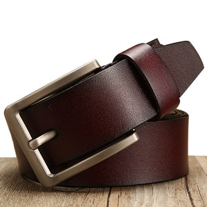Men's Genuine Leather Belt Male Strap Belt Casual or Luxury Pin Buckle FREE SHIPPING