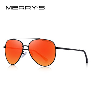 MERRYS DESIGN Men Classic Pilot Sunglasses Aviation Frame HD Polarized Sun glasses For Men Driving UV400 Protection
