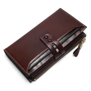 New Women's Wallet Genuine Leather High Quality Long Design Clutch Cowhide Wallet High Quality Fashion Female Purse