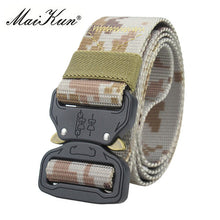 Load image into Gallery viewer, Maikun Military Equipment Combat Tactical Belts for Men US Army Training Nylon Metal Buckle Waist Belt Outdoor Hunting Waistband