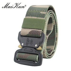 Maikun Military Equipment Combat Tactical Belts for Men US Army Training Nylon Metal Buckle Waist Belt Outdoor Hunting Waistband