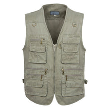 Load image into Gallery viewer, Photographer Vest 5XL 6XL 7XL New Male Casual Big Size Cotton Sleeveless Vest With Many 16 Pockets Men Multi Pocket Photograph Waistcoat