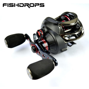 Fishdrops baitcasting reel left hand fishing reel high speed casting fishing reel 7.0:1 baitcaster fishing reel