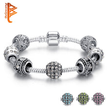 Load image into Gallery viewer, Fashion Women Bracelet Silver Crystal Bead Charm Bracelet Assorted Colors For Women Jewelry Original Bracelets Gift