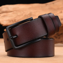 Load image into Gallery viewer, Men's Genuine Leather Belt Male Strap Belt Casual or Luxury Pin Buckle FREE SHIPPING