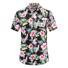 Load image into Gallery viewer, Men's Casual Summer Short Sleeve Hawaiian Tropical Beach Floral Cotton Shirt FREE SHIPPING