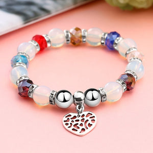 Romantic Vintage Bracelets For Women Cutout Heart Pendant Bracelets Beads Fit Pan Bracelets Jewelry FREE SHIPPING