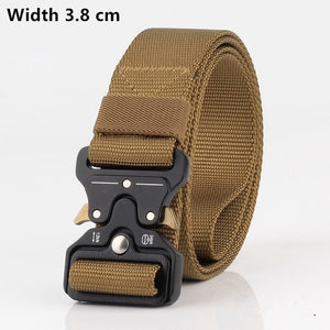 Men's High Quality Tactical Military Style Nylon Strap Belt Multi-Functional Training Outdoor FREE SHIPPING