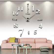 Load image into Gallery viewer, Luminous Wall Clocks Large Clock watch Horloge 3D DIY Acrylic Mirror Stickers