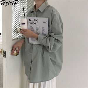 Women's Boyfriend Shirt Loose Casual Blouse 4 Colors One Size Bust 132cm/51.5in Length 65cm/25.4in Sleeve 47cm/18.3in Shoulder 57cm/22.2in FREE SHIPPING