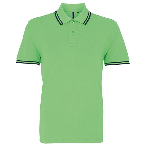 Asquith & Fox Men's Classic fit tipped Polo. AQ011