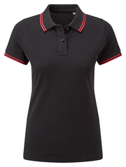 Asquith & Fox Women's Classic Fit Tipped Polo. AQ021