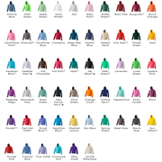 Awdis Just Hoods Adult College colour chart JH01