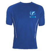 St.Austell Sharks Performance T Shirt customised with logo