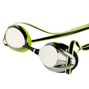 Maru Pulsar mirror anti fog goggle in silver/lime/black