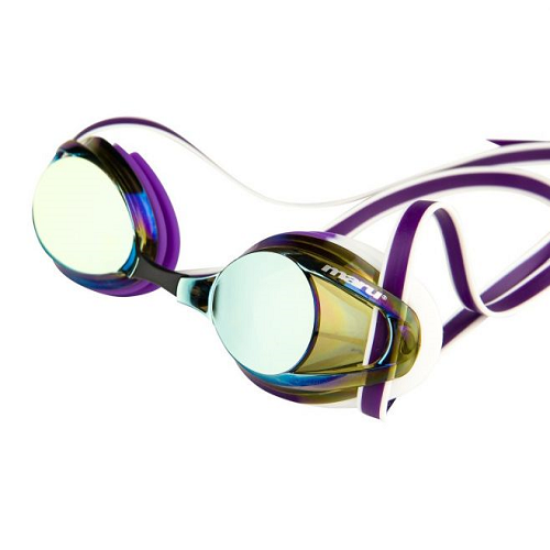 Maru Pulsar mirrored goggle in gold/purple/white
