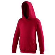 Awdis Children's hoodie shown in Brick Red JH01J