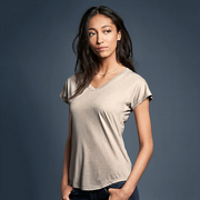 Anvil Women's Triblend V Neck Tee. A113F
